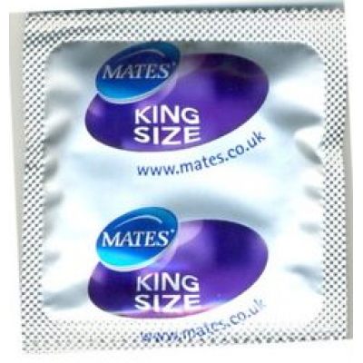 Mates King Size XXL Condoms 72 Pack
